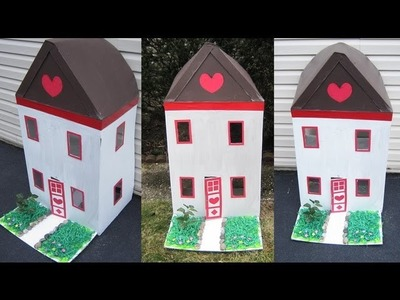How to decorate a cardboard house - EP