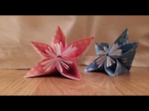 How to make an Origami Japanese Kusudama flower - Tutorial