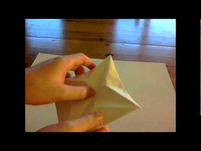 How to make an origami triangle pod