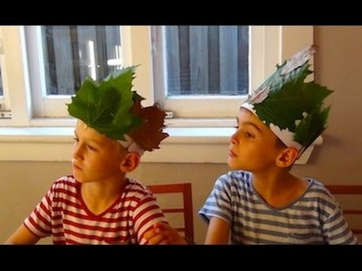 How to make Autumn Leaf Crowns