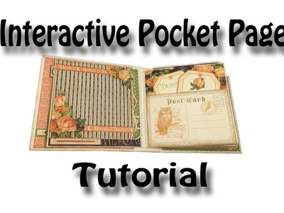 Interactive Pocket Page Tutorial used for my Eerie Tale & Romance Novel Mini Albums