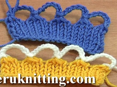 Knit Crochet Bind Off Cast Off Tutorial 7 Part 9 of 12 Foundation for Crochet Edging
