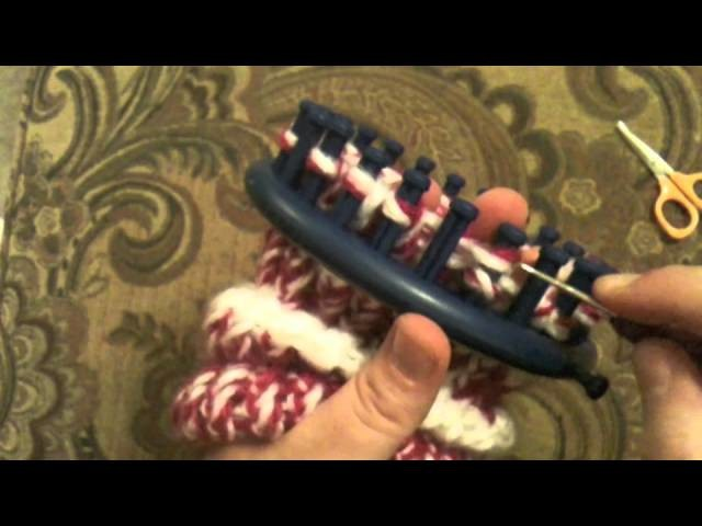 Loom Knit a Banded Beanie Hat Part 3 of 3