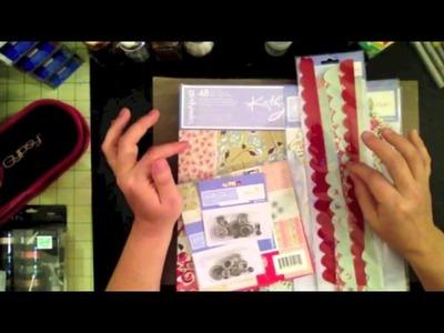 Mini Scrapbook Haul Nov 2013   Office Max, Goodwill and Joann's Fabric