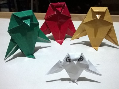 Origami - Coruja (Passo-a-passo). Owl (Step by step). Vamos fazer juntos? Let´s do it together?