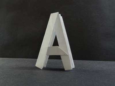 "Origami Tutorial - How to fold Alphabet ""A"""