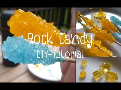 Rock Candy - Large And Regular Crystals! (Sugar Crystals) - Tutorial DIY