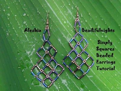 Simply Squares Beaded Earrings