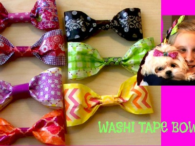 WASHI TAPE BOWS - DIY How to Make Multi Colored