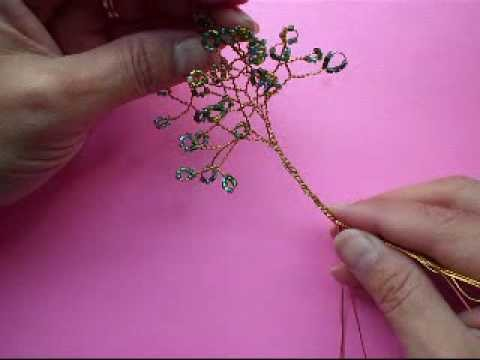 Wire Tree with Seed Beads