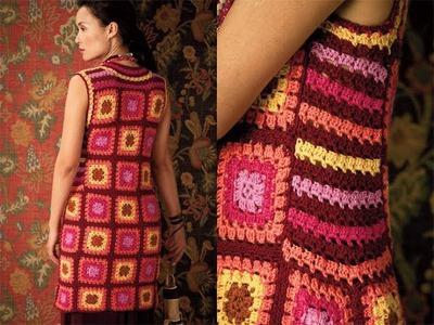 #31 Granny Square Dress, Vogue Knitting Crochet 2012