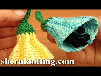 3D Striped Crochet Bell-Flower Pattern Tutorial 82 See More Flowers to Crochet