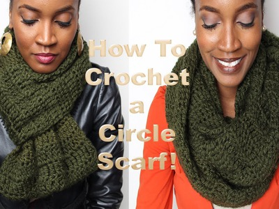 5- #GaudyIsGood, How to Crochet A Chunky Circle Scarf!