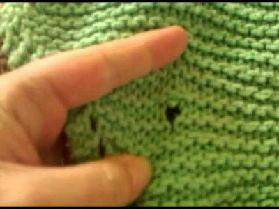 A Hole In Knit Fabric