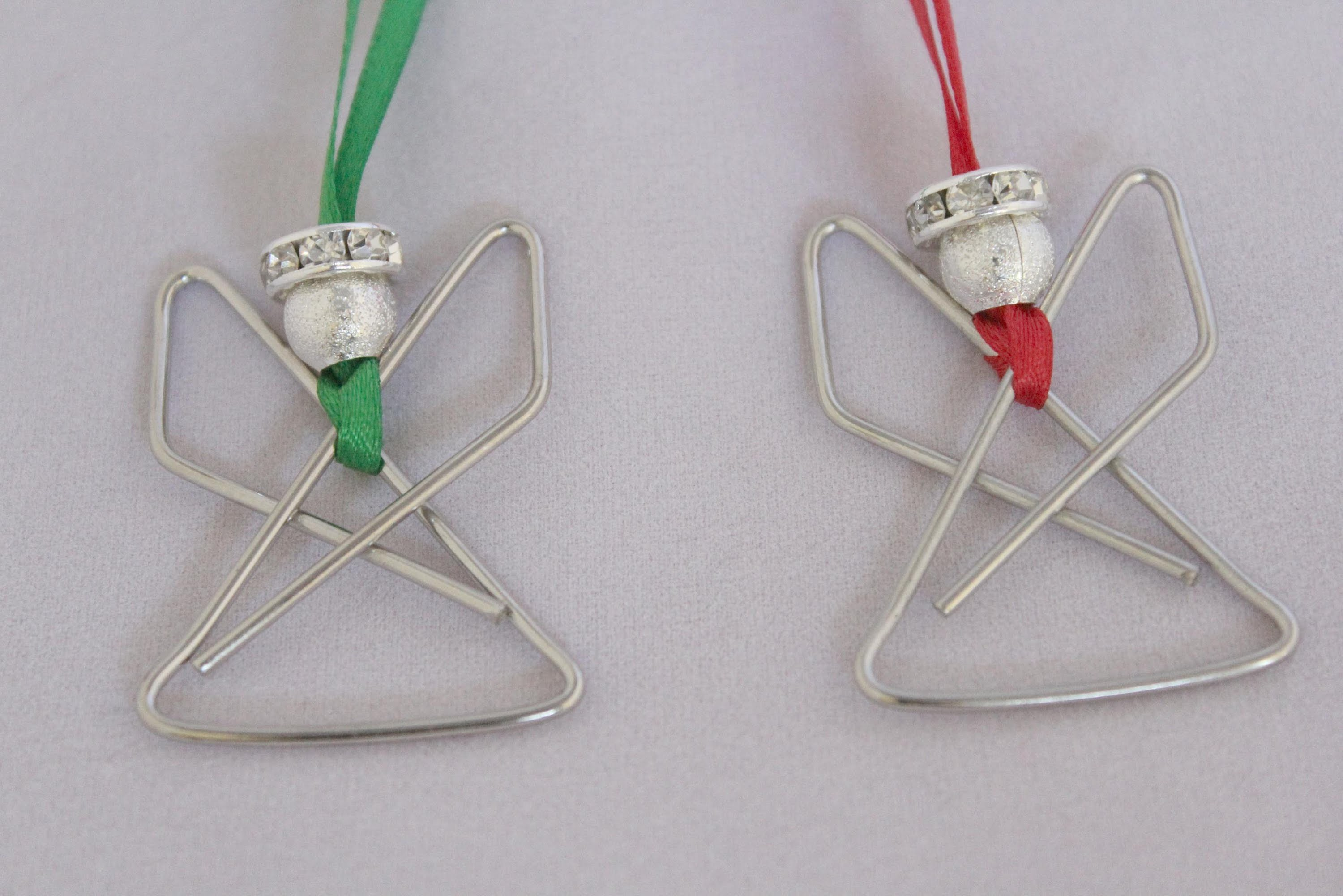 Angel Paperclip Ornament Tutorial - Christmas Angel craft