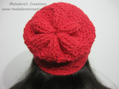 Angel Stitch Adjustable Slouchy Beanie - Crochet Tutorial