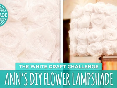 Ann's DIY Flower Lamp - HGTV Handmade White Craft Challenge
