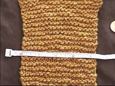 Basic Knitting Tips & Techniques : How to Measure Gauge in Garter Stitch