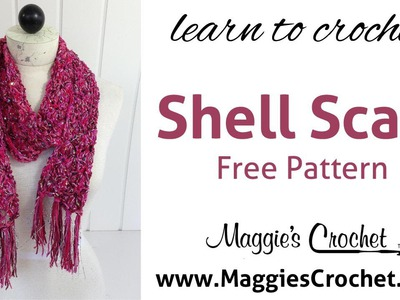 Beginner Shell Scarf Free Crochet Pattern with Hipster & Enchant Yarn - Right Handed