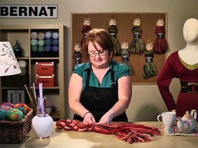 Bernat Knit or Knot Clara: Knot Scarf Tutorial