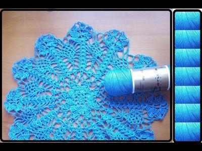 Blusa azul navy crochet