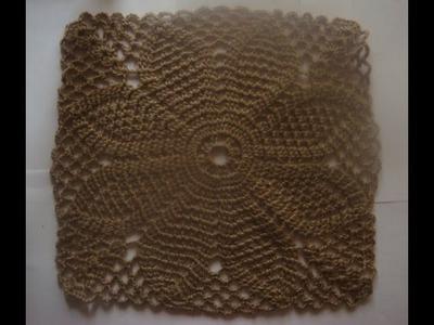 Большой квадратный мотив.Square crochet motif