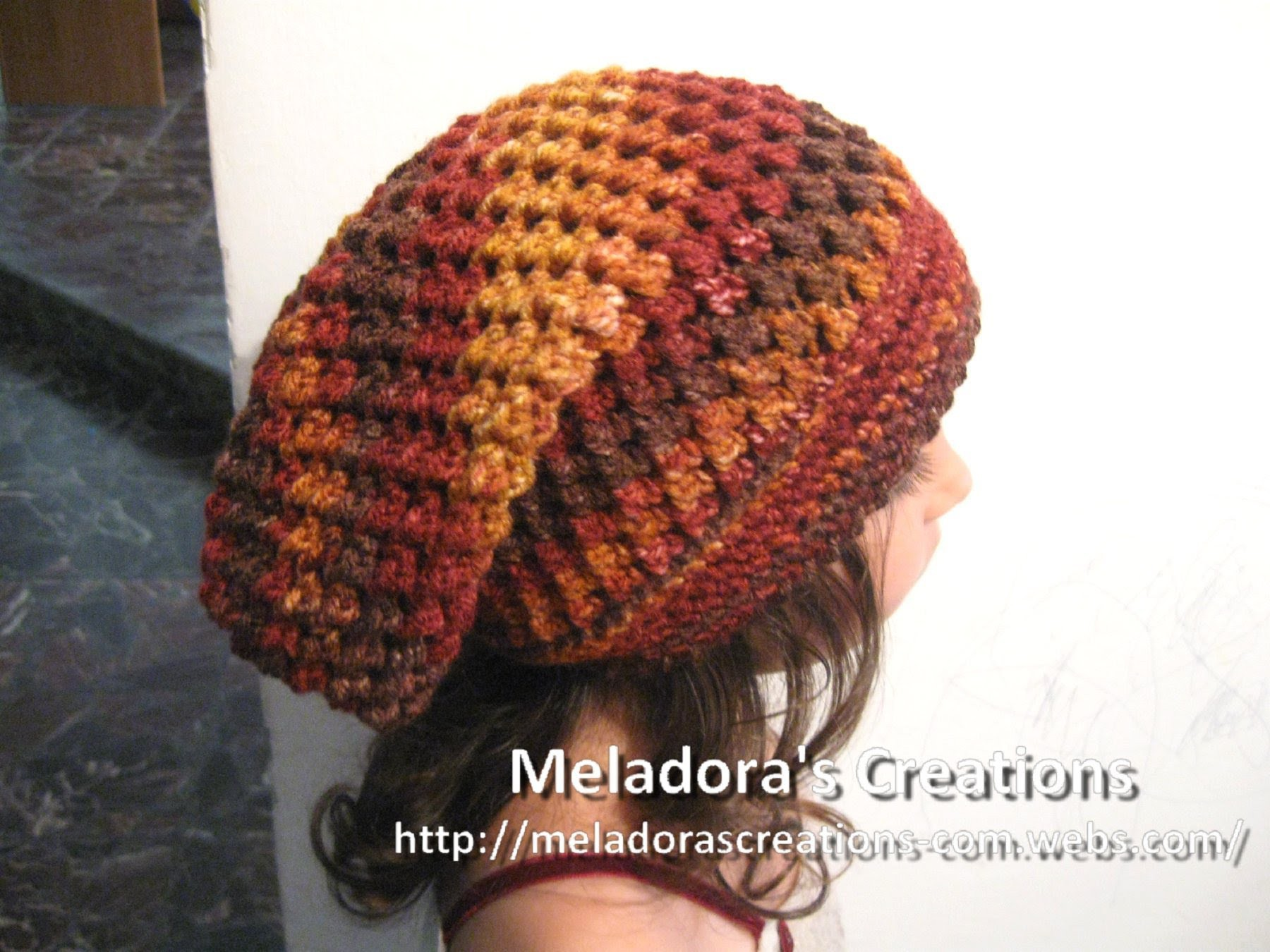 Butterfly Stitch Slouch Hat - Left Handed Verison - Crochet Tutorial