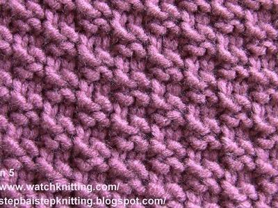(Checkered ) - Simple Patterns - Free Knitting Patterns Tutorial - Watch Knitting - pattern 5