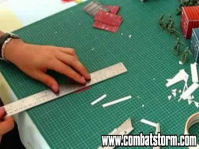 Combat Storm Miniature Wargame Paper Craft Tutorial