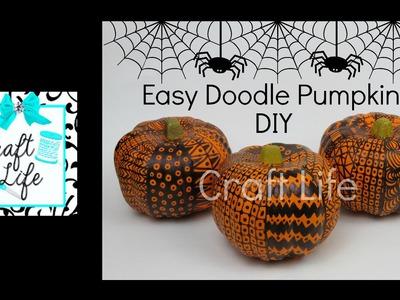 Craft Life Fun & Easy DIY Doodle Pumpkins ~ Halloween Room Decor