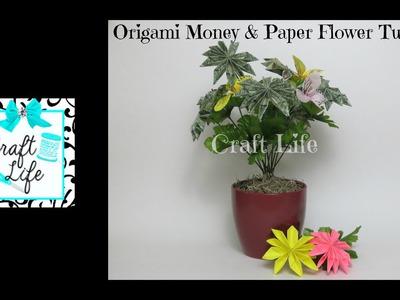 Craft Life ~ Origami ~ Money & Paper Flower Bouquet Tutorial