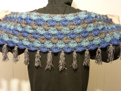 #Crochet Bavarian Stitch Shawl Scarf Wrap #TUTORIAL How to crochet a shawl