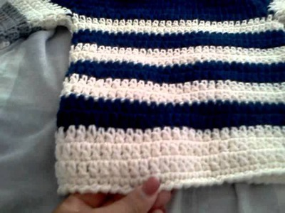 Crochet boy sweater. abrigo tejido