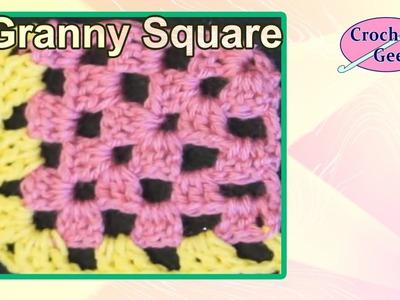 Crochet Corner Granny Square in Rows Crochet Geek Crochet Geek