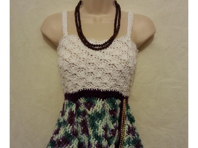 #Crochet Cute Womens Top Blouse Shirt Dress #TUTORIAL