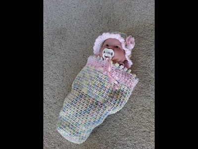 Crochet easy baby cocoon DIY tutorial