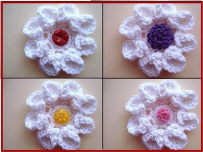 Crochet flower, CURLED PETAL ROSE, how to diy