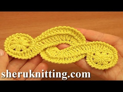 Crochet Freeform Motif Tutorial 16 Irish.Guipure Crochet Motif Free Pattern