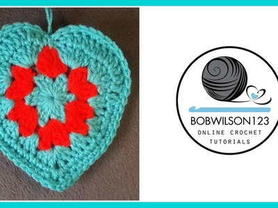 Crochet Granny Style Heart Tutorial - Whip it up Wednesday