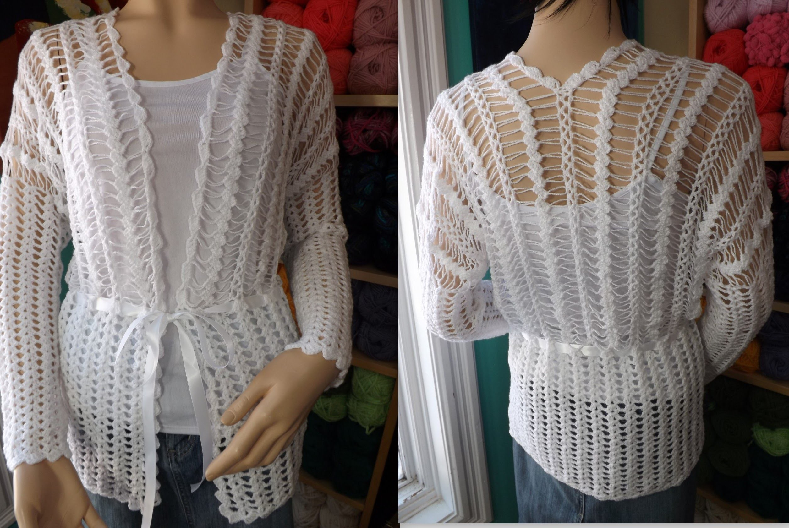 Crochet Hairpin Lace Cardigan