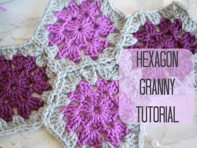 CROCHET: Hexagon granny tutorial | Bella Coco