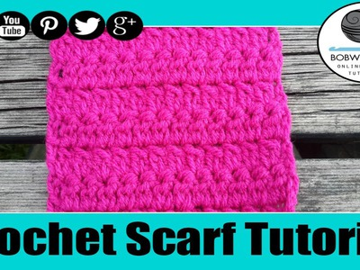 Crochet Lazy Cluster Scarf Tutorial