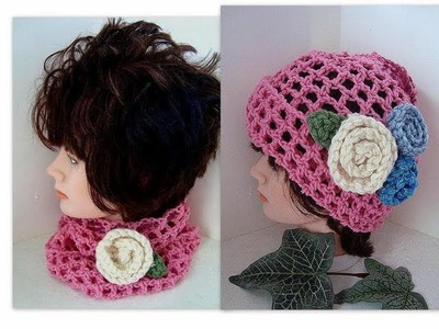 CROCHET  MESH HAT OR COWL, Easy beginner crochet pattern, baby to adult