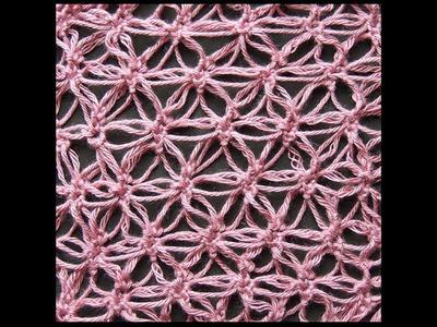 Crochet : Punto Salomón Variación # 3, Recto