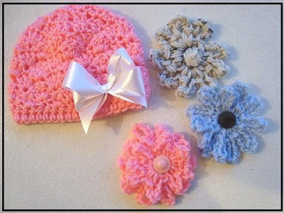 CROCHET SHELL STITCH BABY HAT, how to, diy,