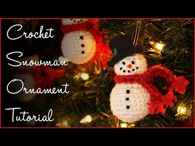 Crochet Snowman Ornament Tutorial!!