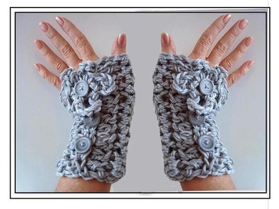 CROCHET TEXTING GLOVES, FINGERLESS GLOVES, HOW TO DIY