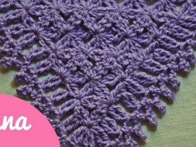Crochet triangular prayer shawl