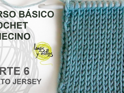 Curso Básico Crochet o Ganchillo Tunecino: Parte 6 Punto Jersey