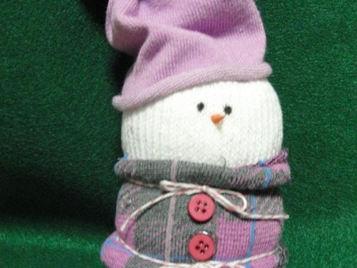 Cute Sock Snowman - DIY Christmas Tutorial - Craft Project -